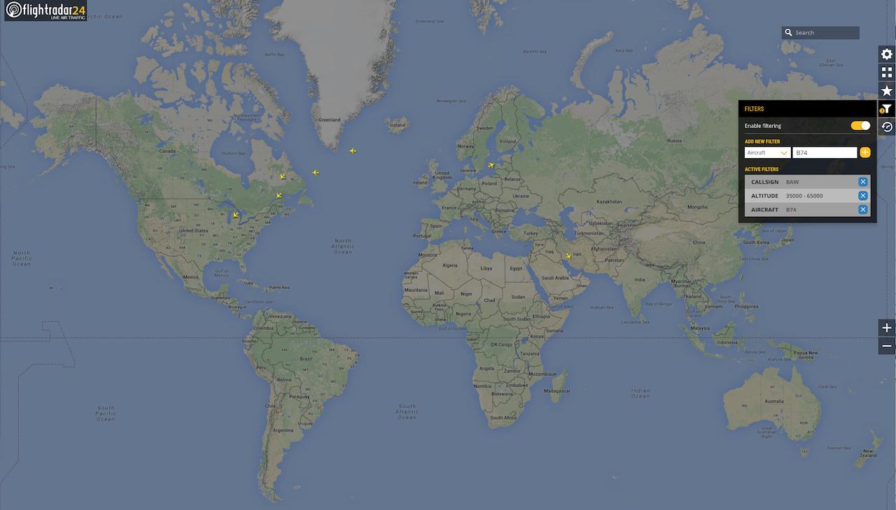 Using Filters in Flightradar24 | Flightradar24 Blog