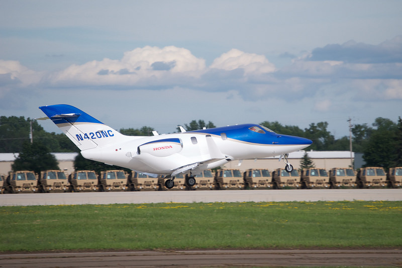The first production Honda Jet makes its debut at Oshkosh in 2013.