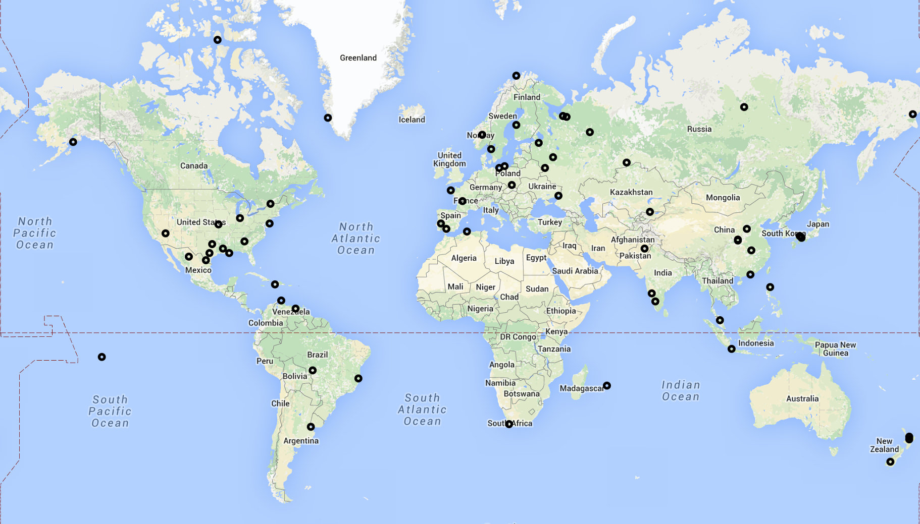 Our map of new receivers activated in the first two weeks of August.