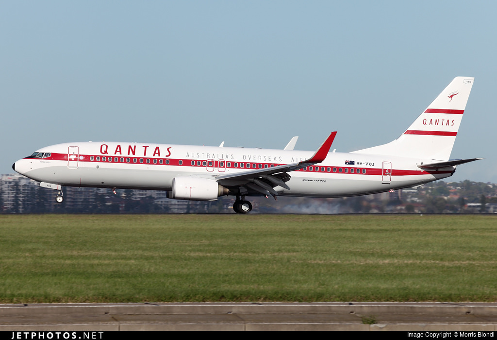 Qantas' newest retro jet, the Retro Roo II.