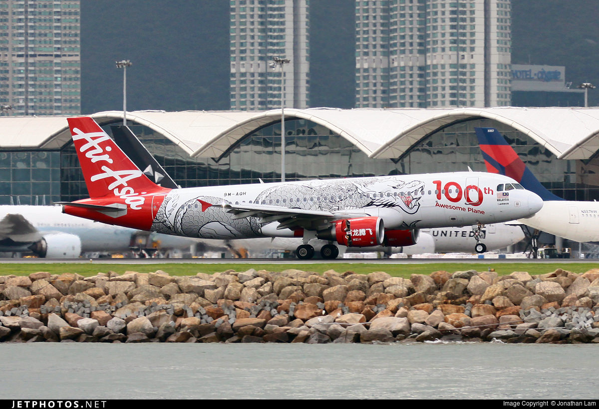 AirAsia's 100th Awesome Plane livery celebrating the 100th aircraft in their fleet.