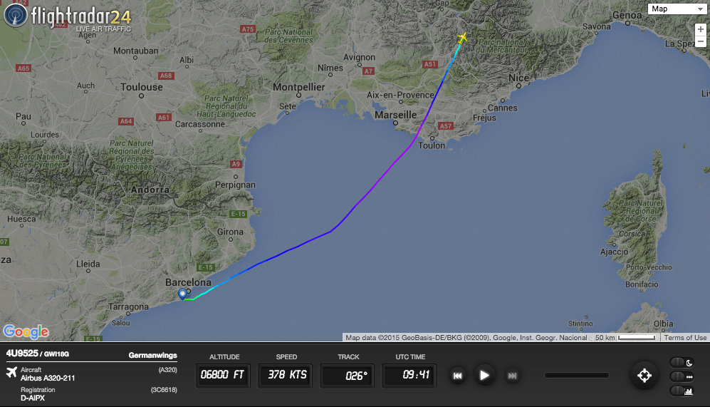 Germanwings flight 9525 crashed in the French Alps after the First Officer Commanded the Autopilot to Descend into Terrain
