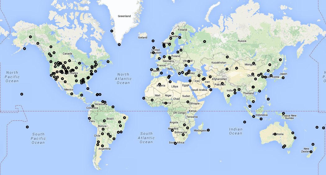 New Flightradar24 receivers activated during November.