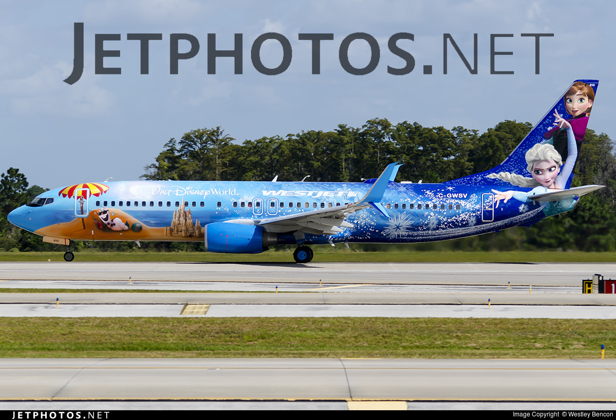 "Westjet's Walt Disney World ""Frozen"" Livery"