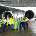 """The Qantas technical team responsible for the """"Fifth Pod"""""""