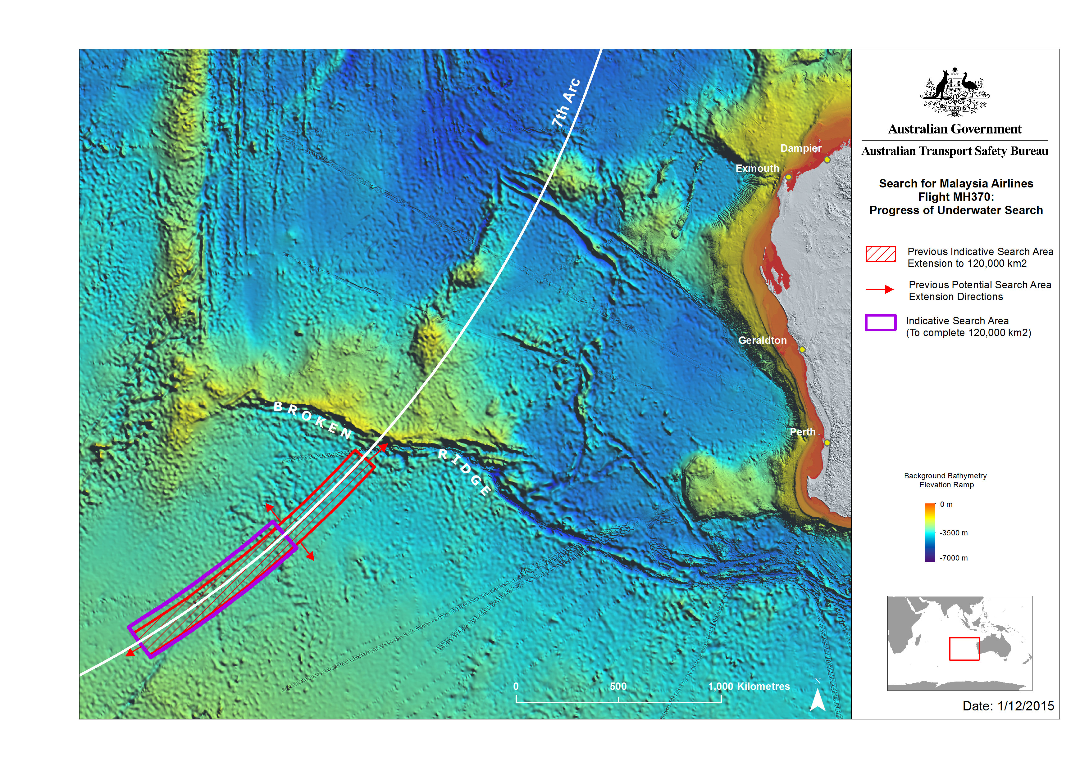 Latest update from the ATSB on the search area for MH370