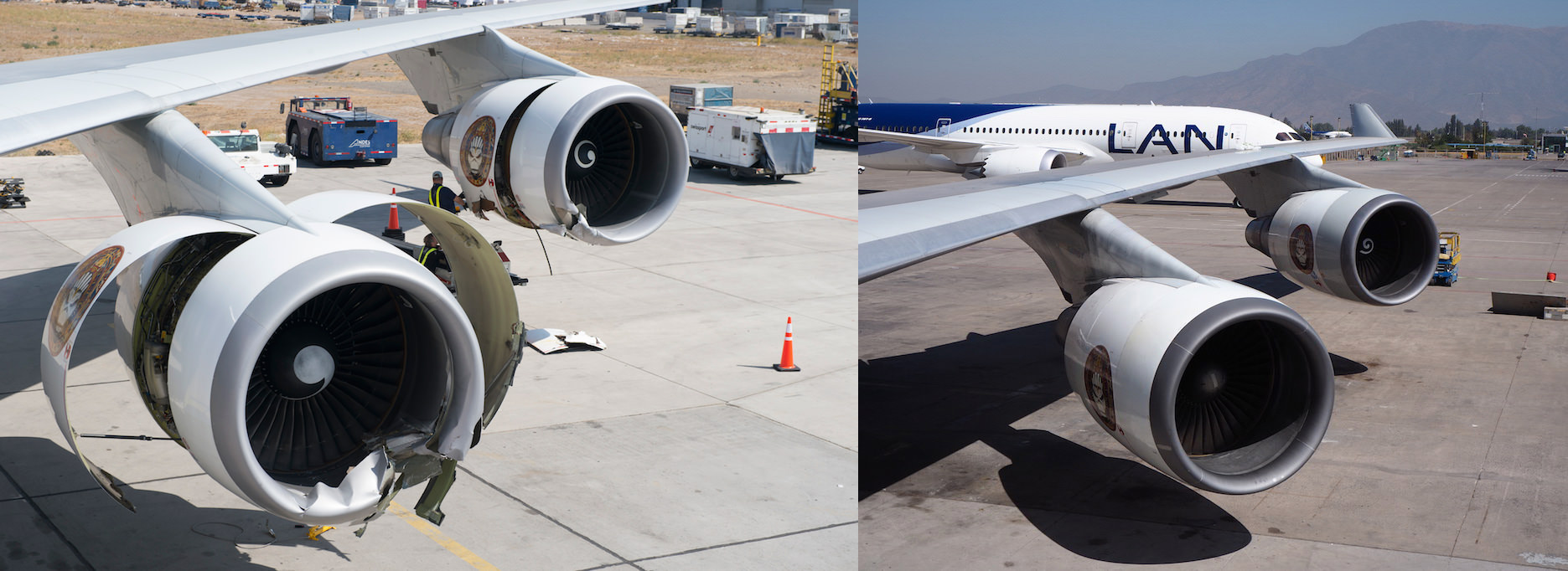 A look at Ed Force One before and after replacing the port-side engines.