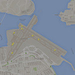 Ground coverage at New York's La Guardia Airport