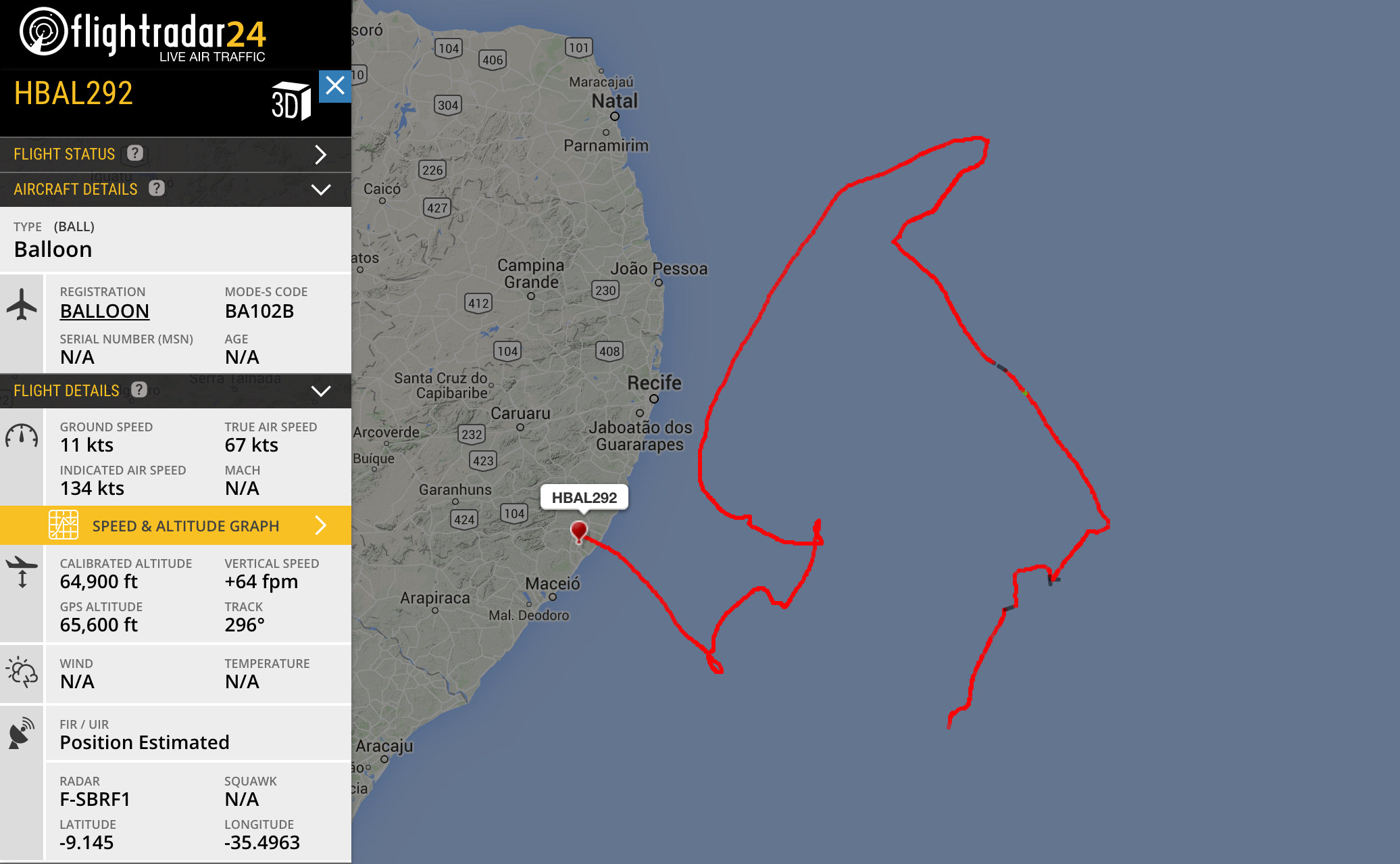 Keep your eye on the hbaltracking project loon balloons a google loon balloon floating off the coast of brazil gumiabroncs Choice Image