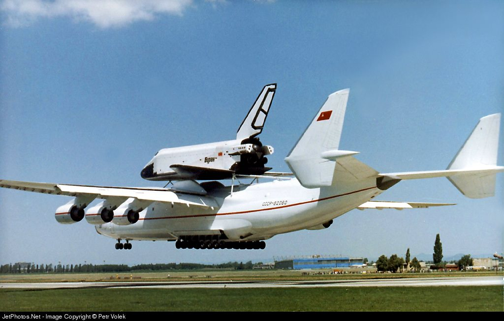 The An-225 carrying the Buran.