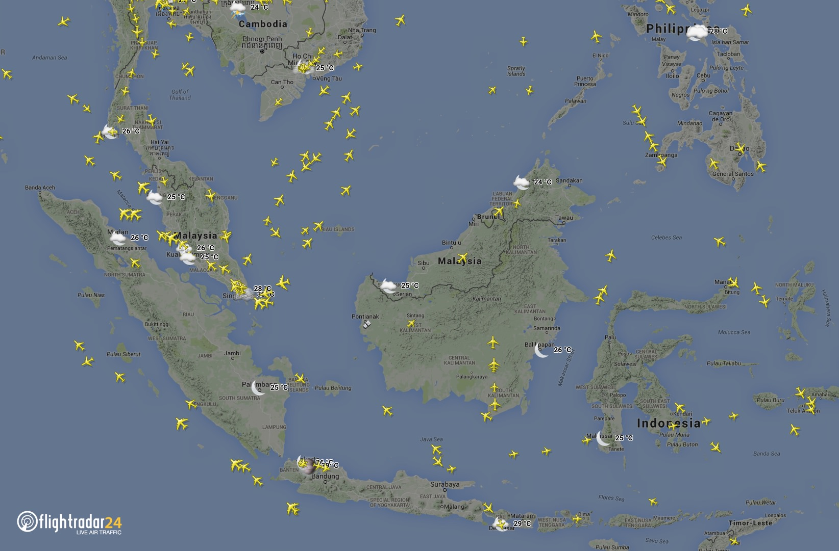 Basic weather is available for over 3000 airports worldwide