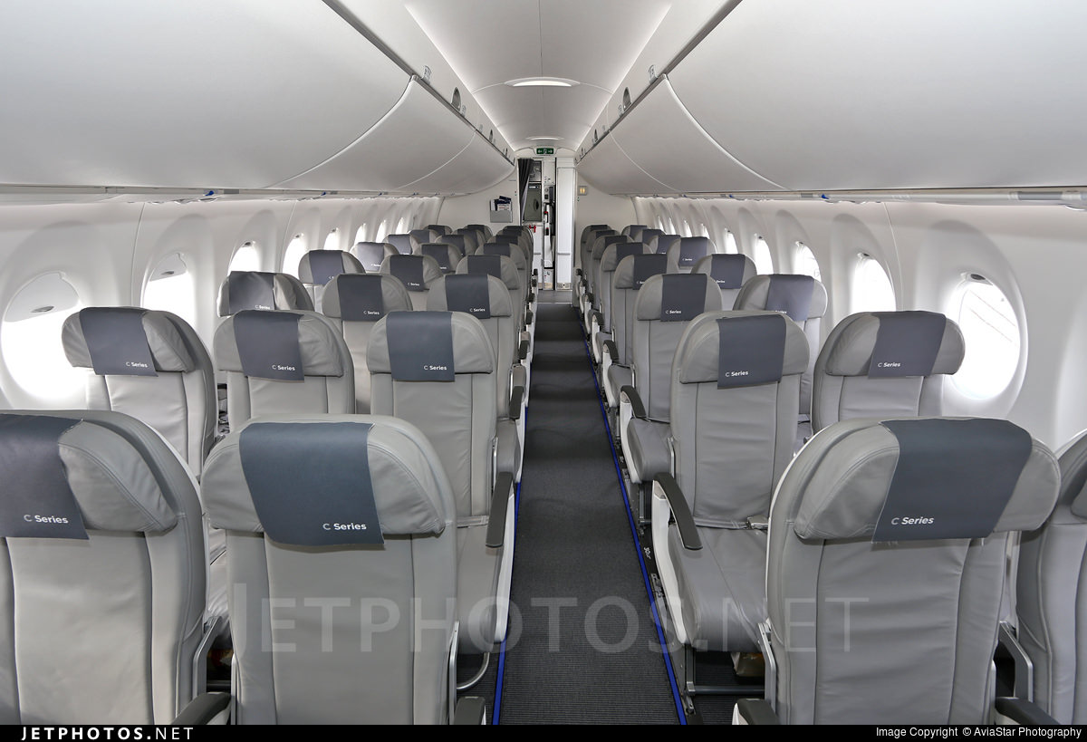 The CS100 cabin, viewed from midcabin.