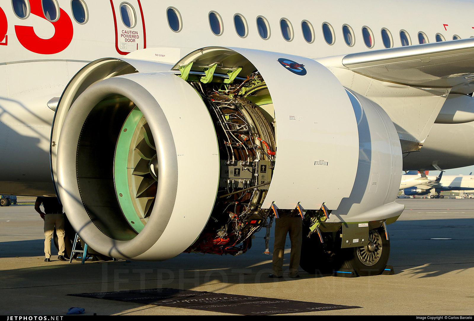 The Pratt and Whitney PW1500G engine
