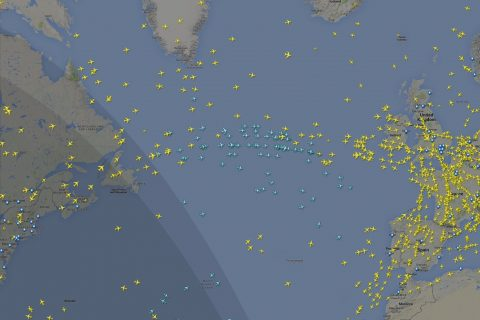 Flights tracked during the first of three passes of the GOMspace GOMX-3 nano-satellite.