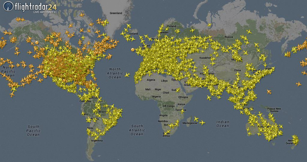 Flightradar24 coverage February 2015