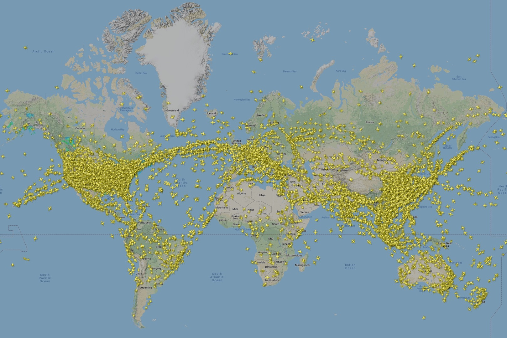November 2019 Flightradar24 coverage