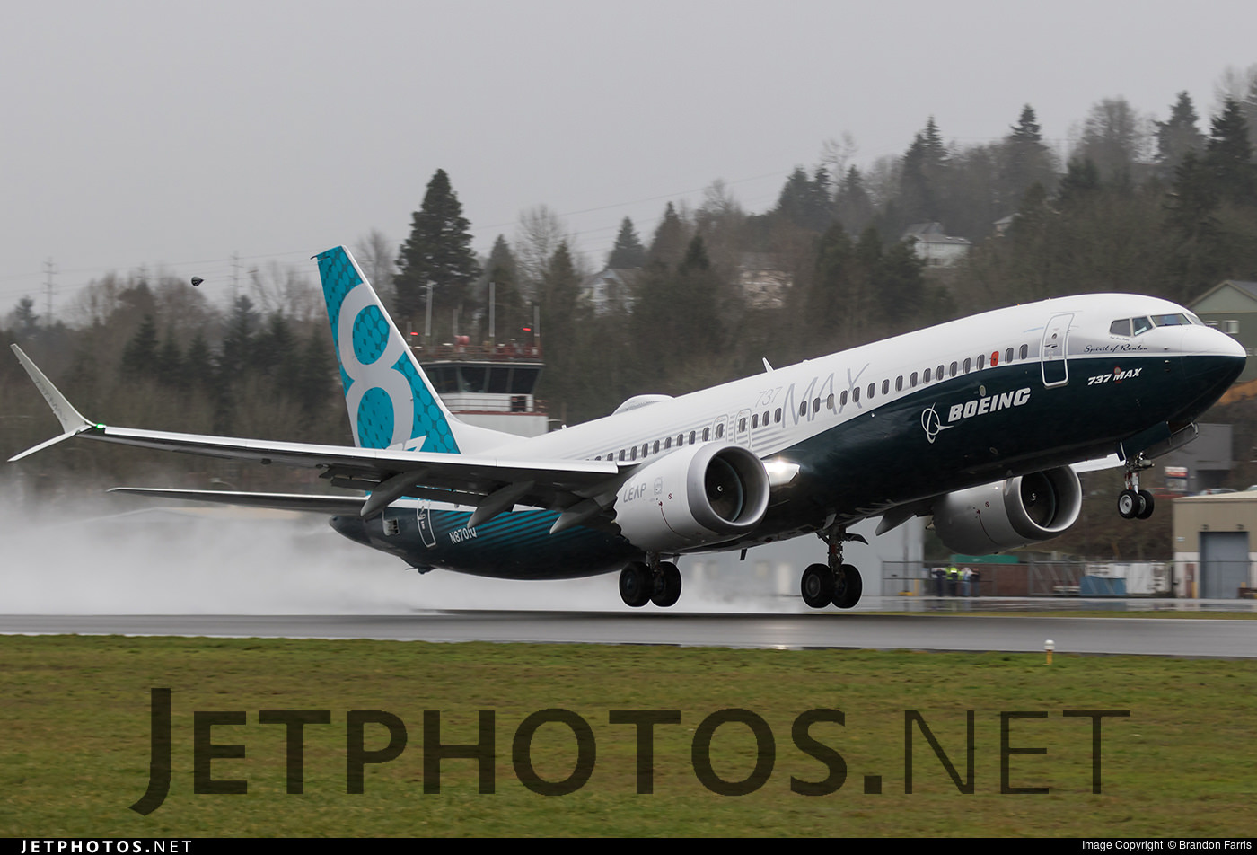 The Boeing 737 MAX takes off for the first time