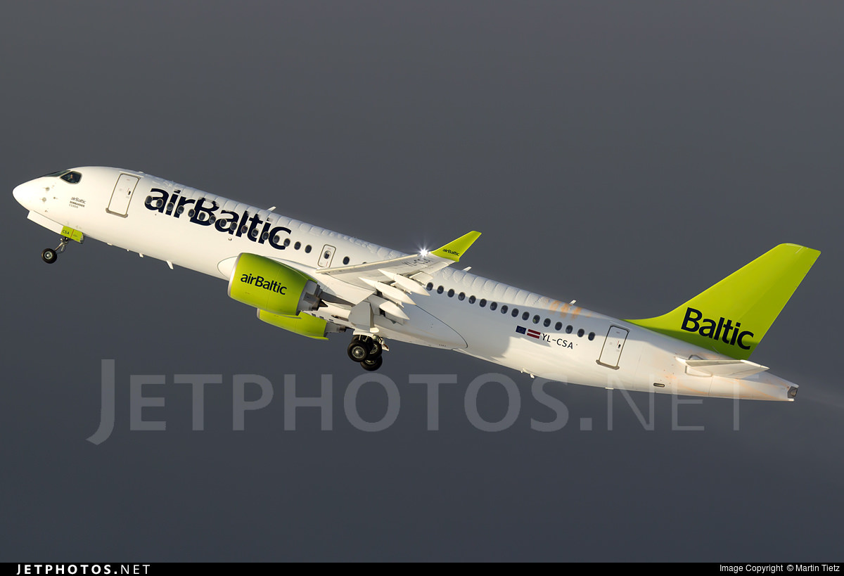 The first CS300 delivered to airBaltic