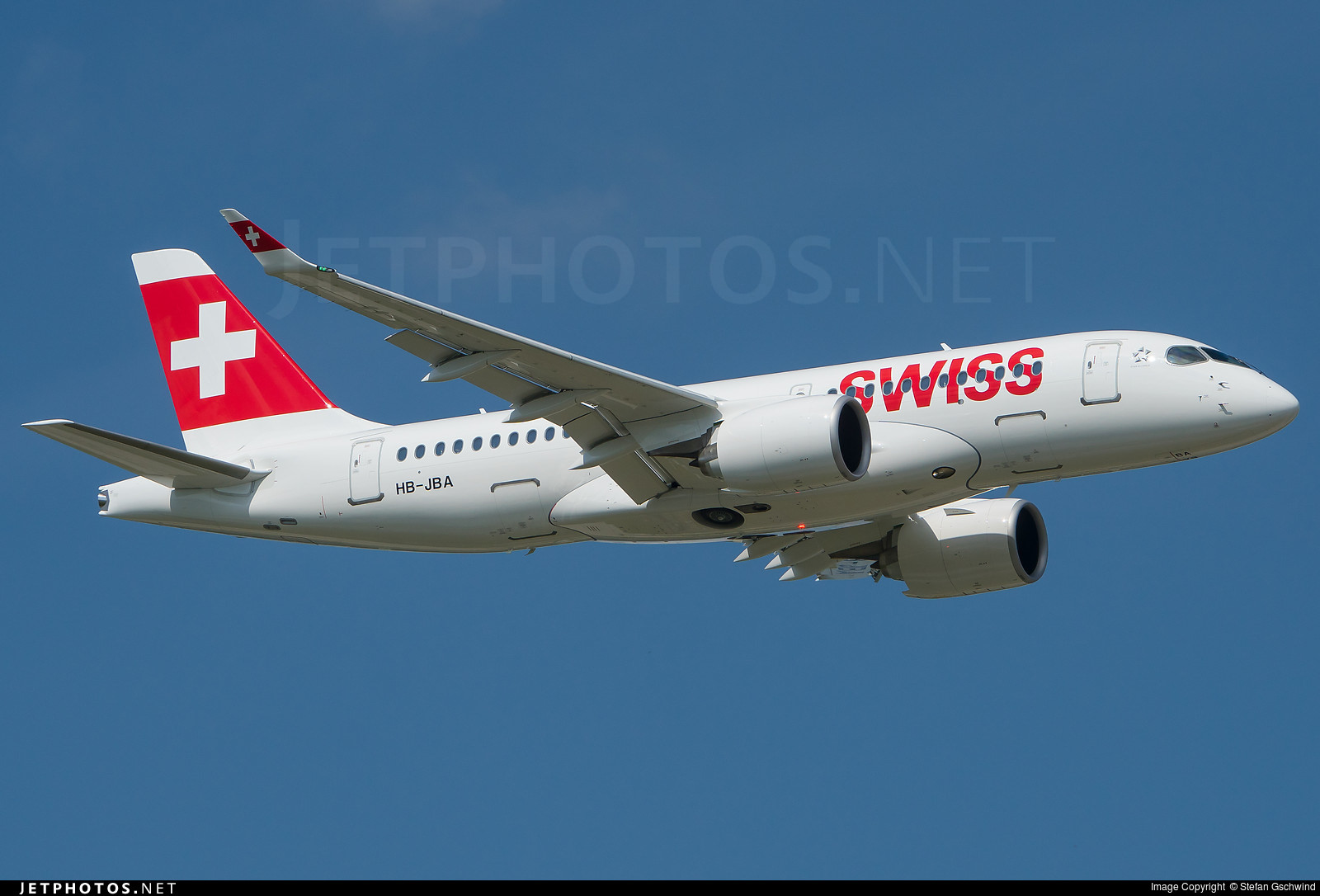 The first CS100 delivered to Swiss