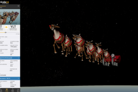 Tracking Santa on Flightradar24 in 3D