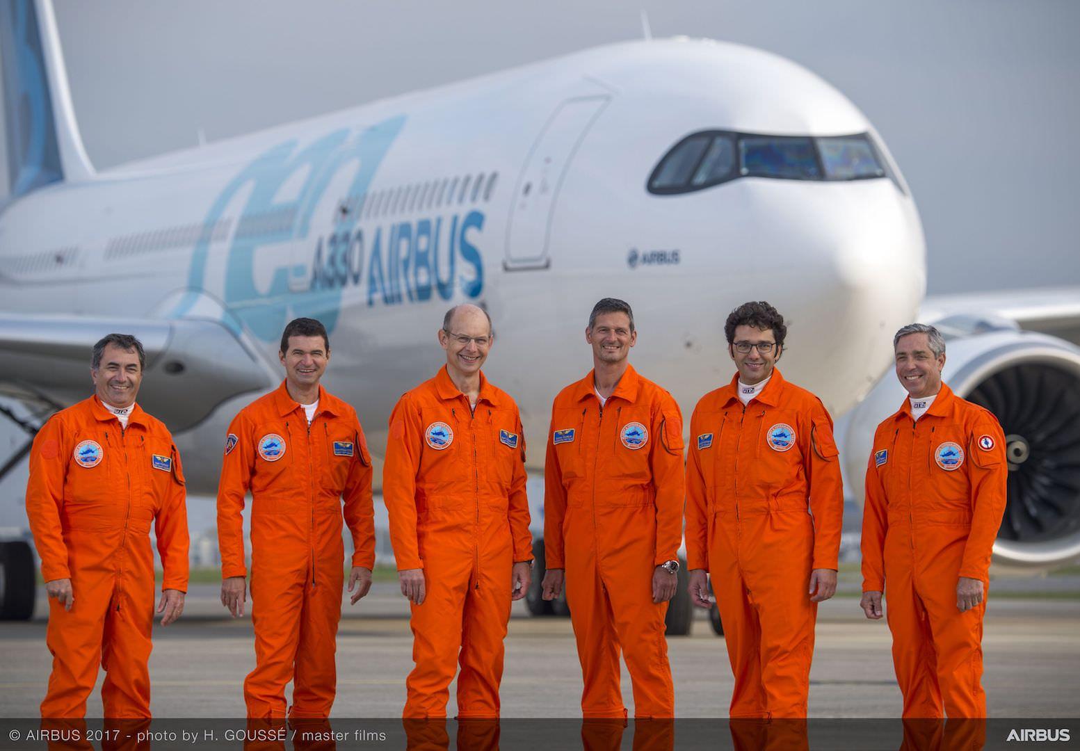 Flight test team
