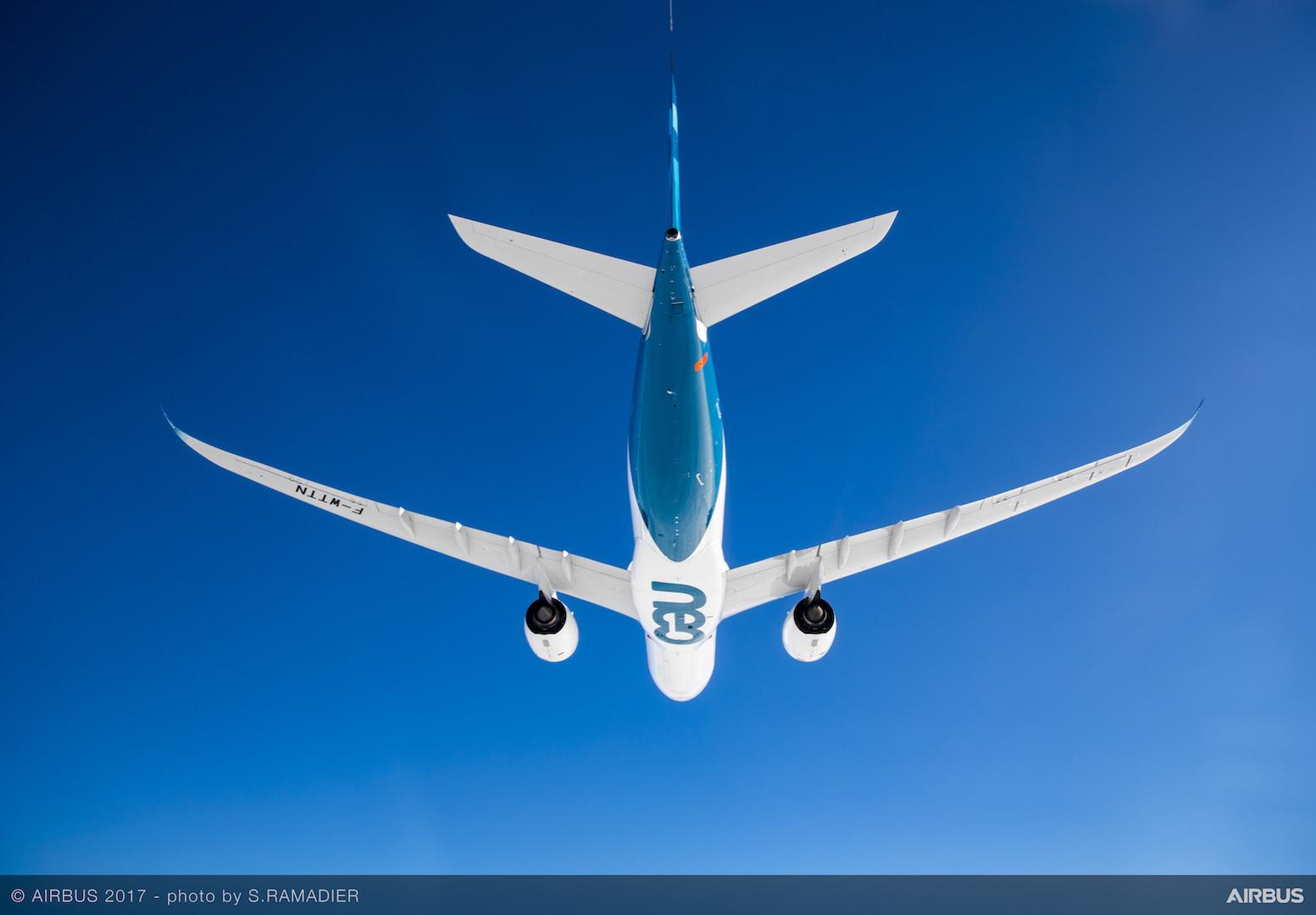 A330neo First Flight Underside