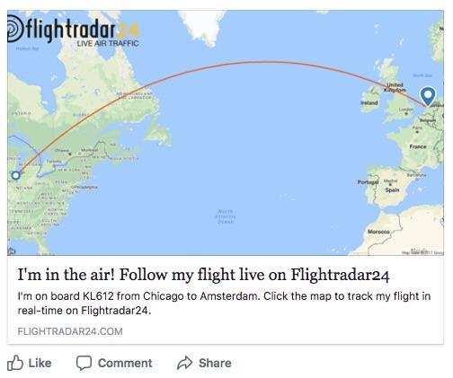 Facebook Example Inflight