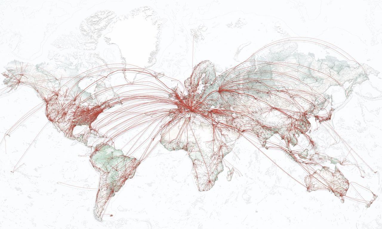 Flights to Rome World Map