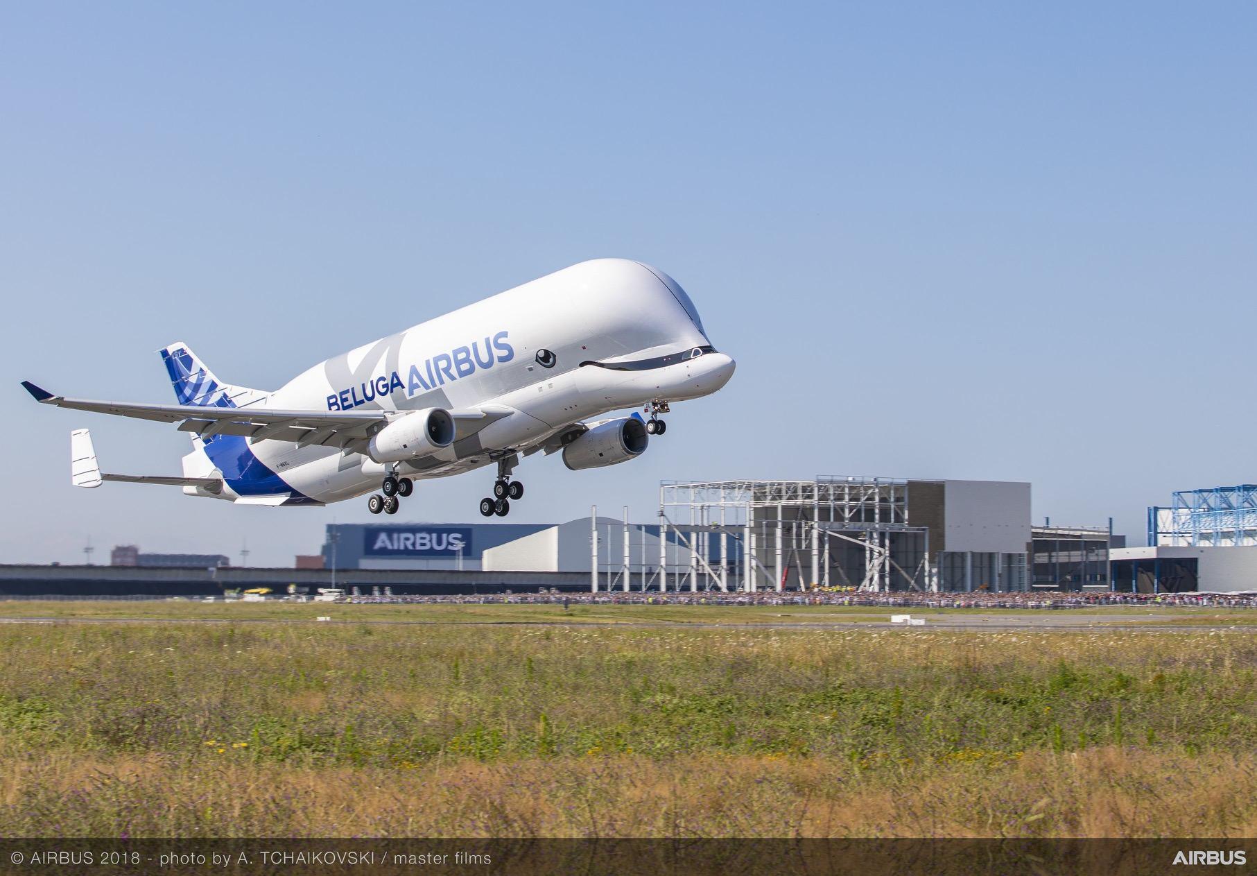 BelugaXL-First-Flight-take-off