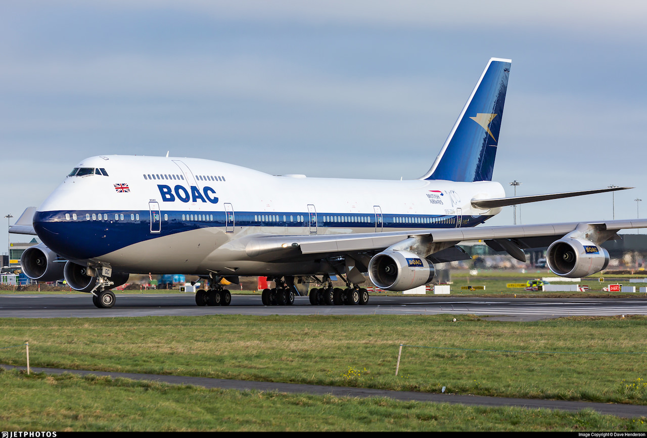 British Airways 747 in BOAC livery