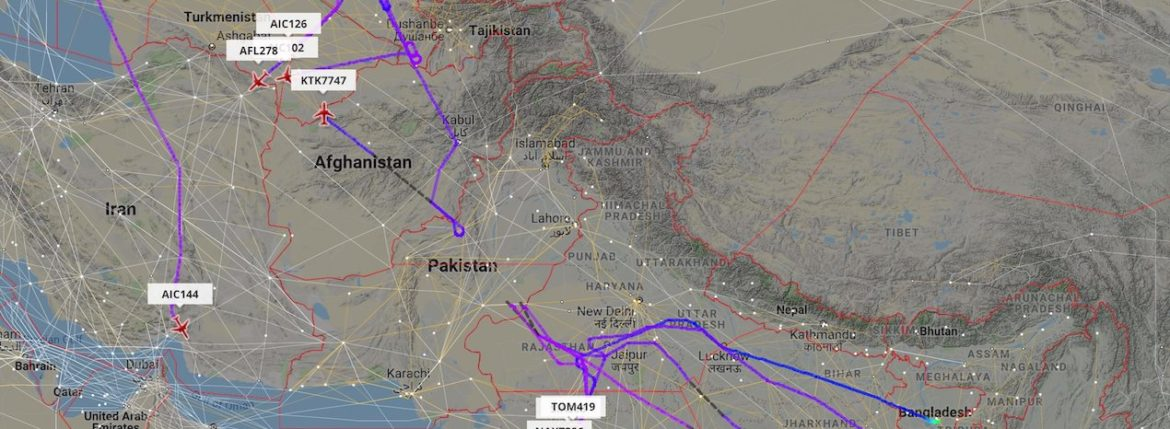 Flights reroute to avoid Pakistani airspace