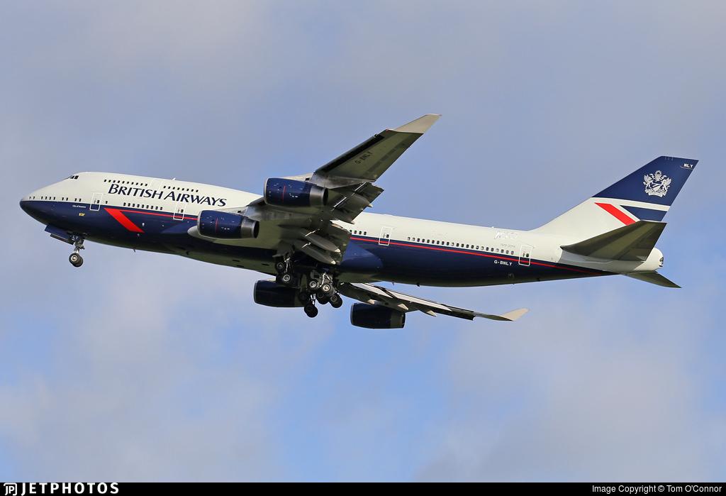 British Airways 747 G-BNLY in Landor livery