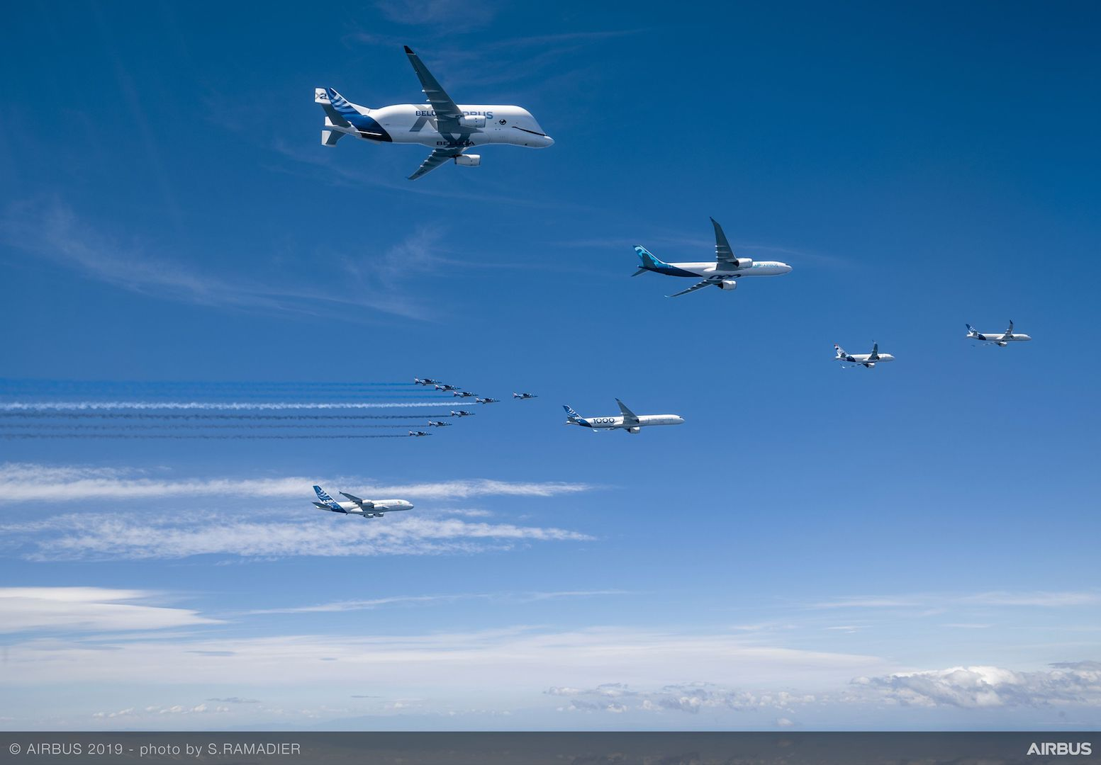 Airbus50 Formation Sideview