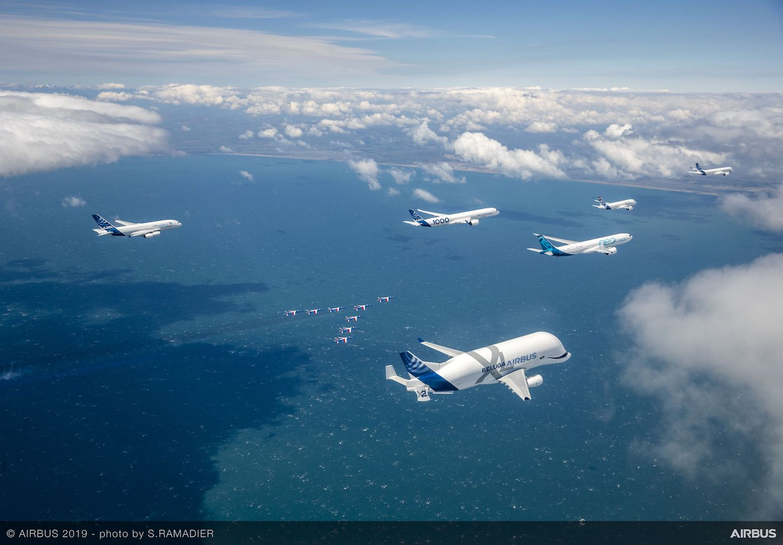 Airbus50 Formation from Above
