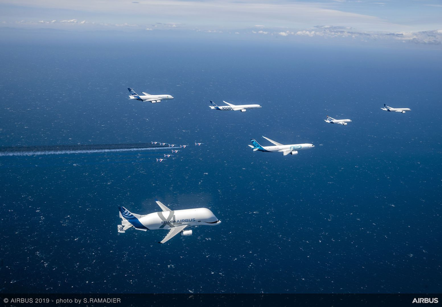 Airbus50 Formation over Med