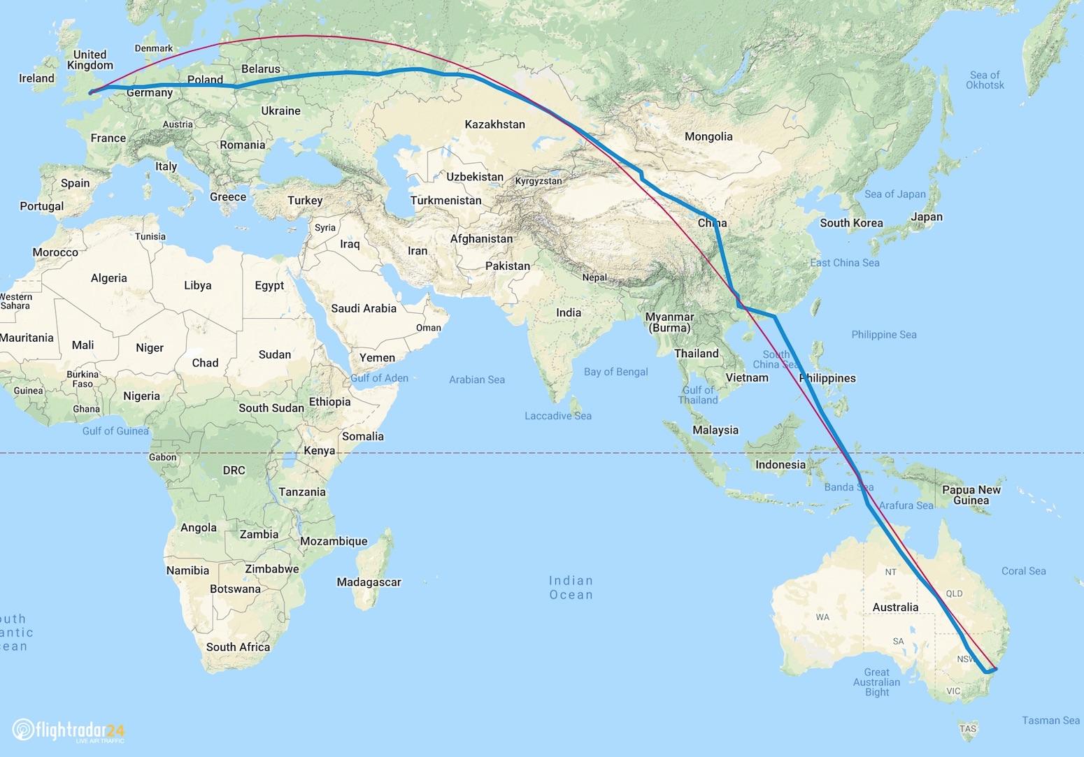 QF7879 Flight Plan 14 November