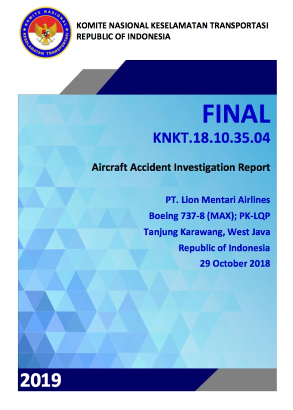 Lion Air 610 crash report