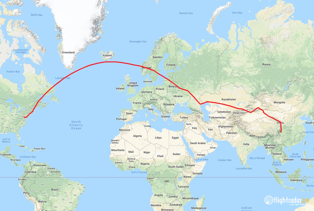 2019 FedEx Panda Express flight route
