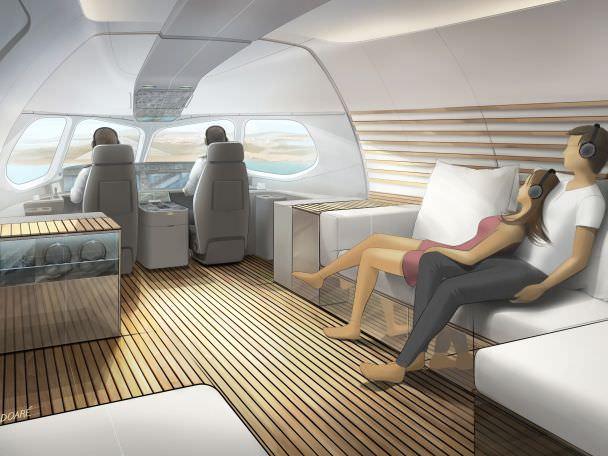 Lufthansa Technik's concept for a private A220