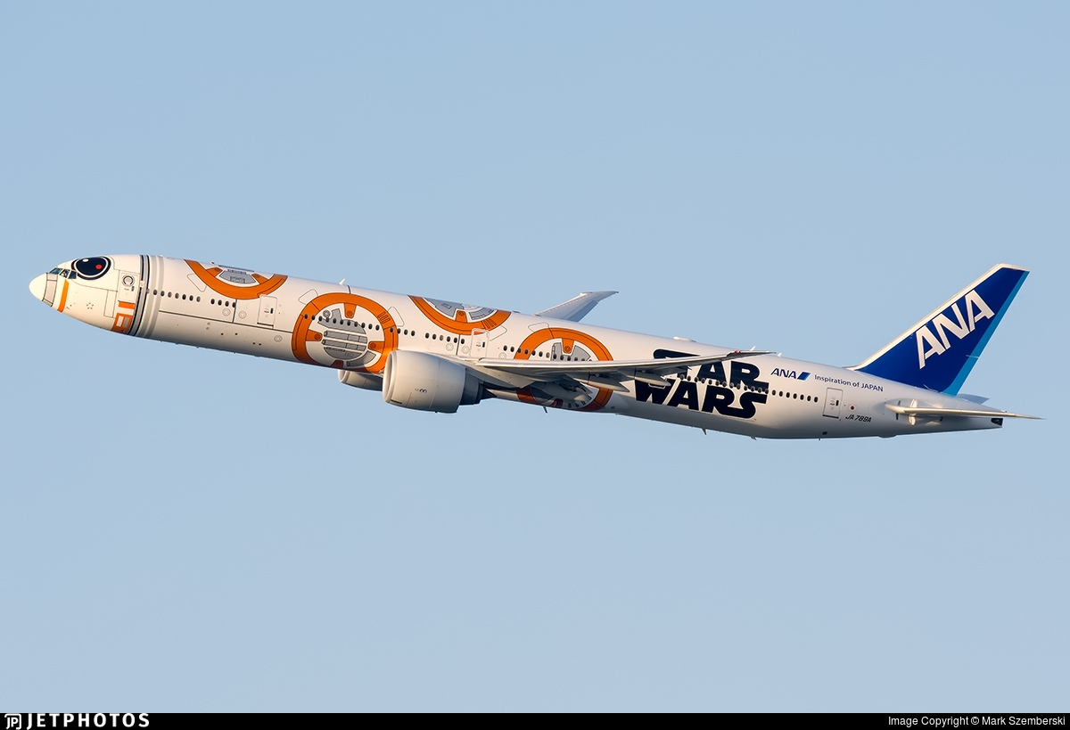 Star Wars special liveries ANA's BB-8 777