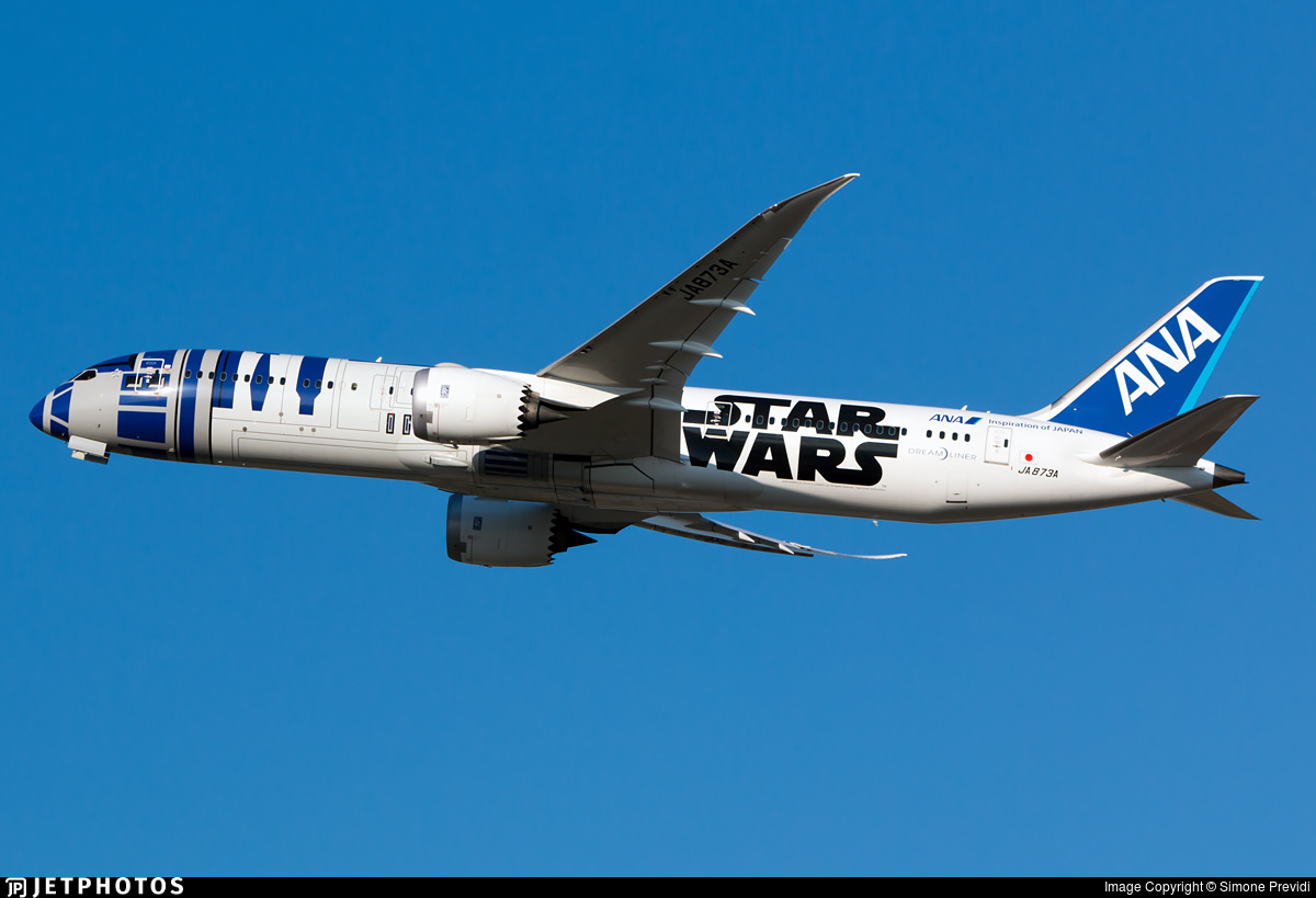 Star Wars special liveries ANA's R2-D2 787