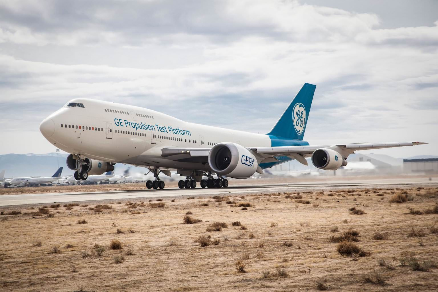 GE9X on GE 747 test bed