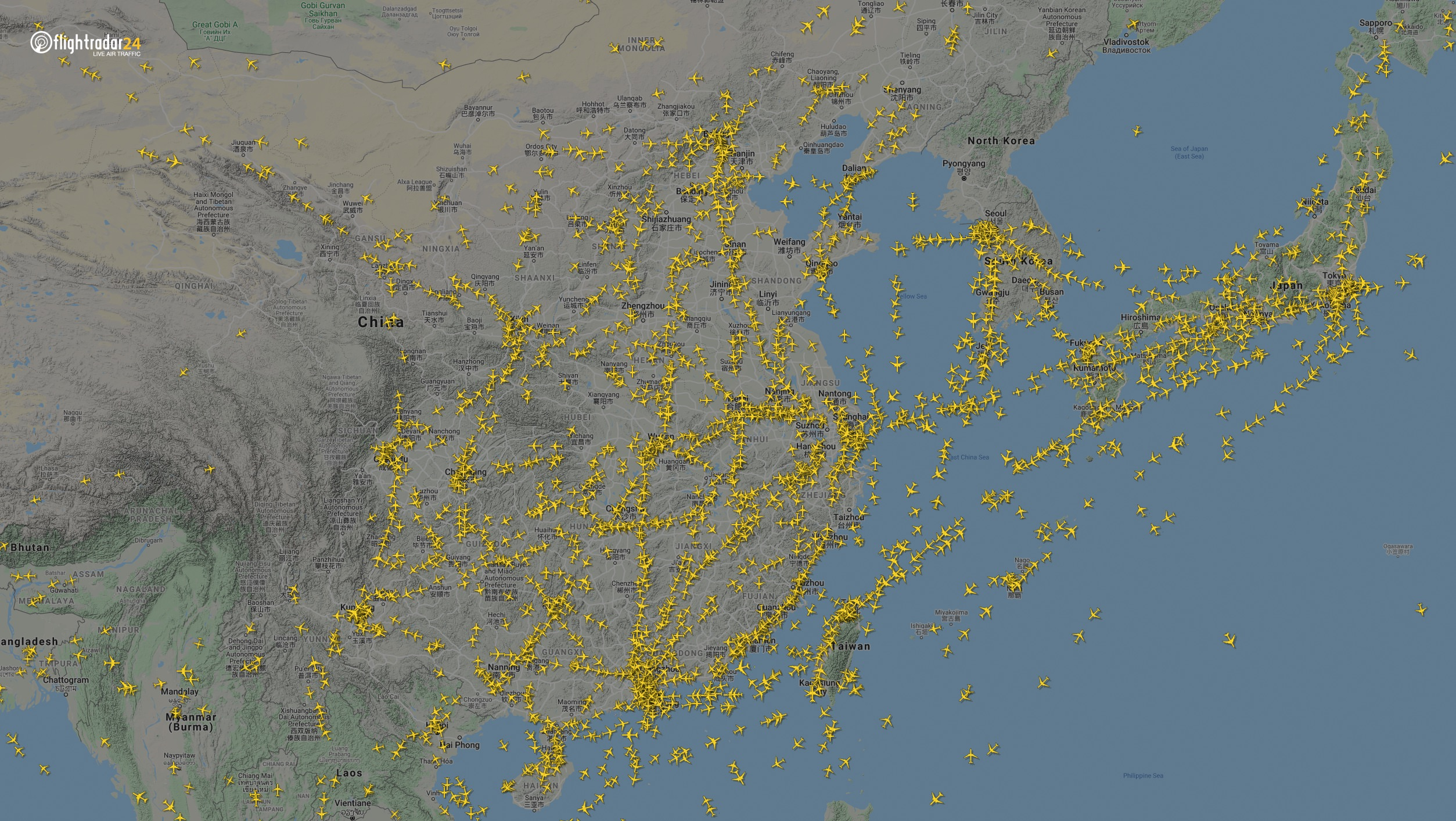 East Asia 7 January