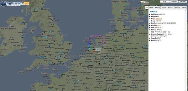 KLM test flight after Eyjafjallajökull eruption