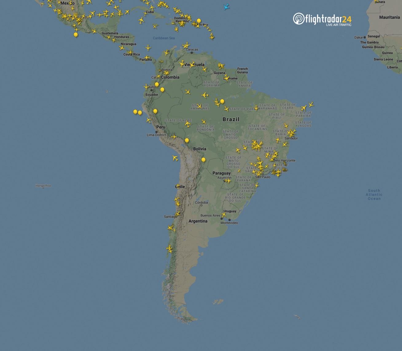 South America 7 April