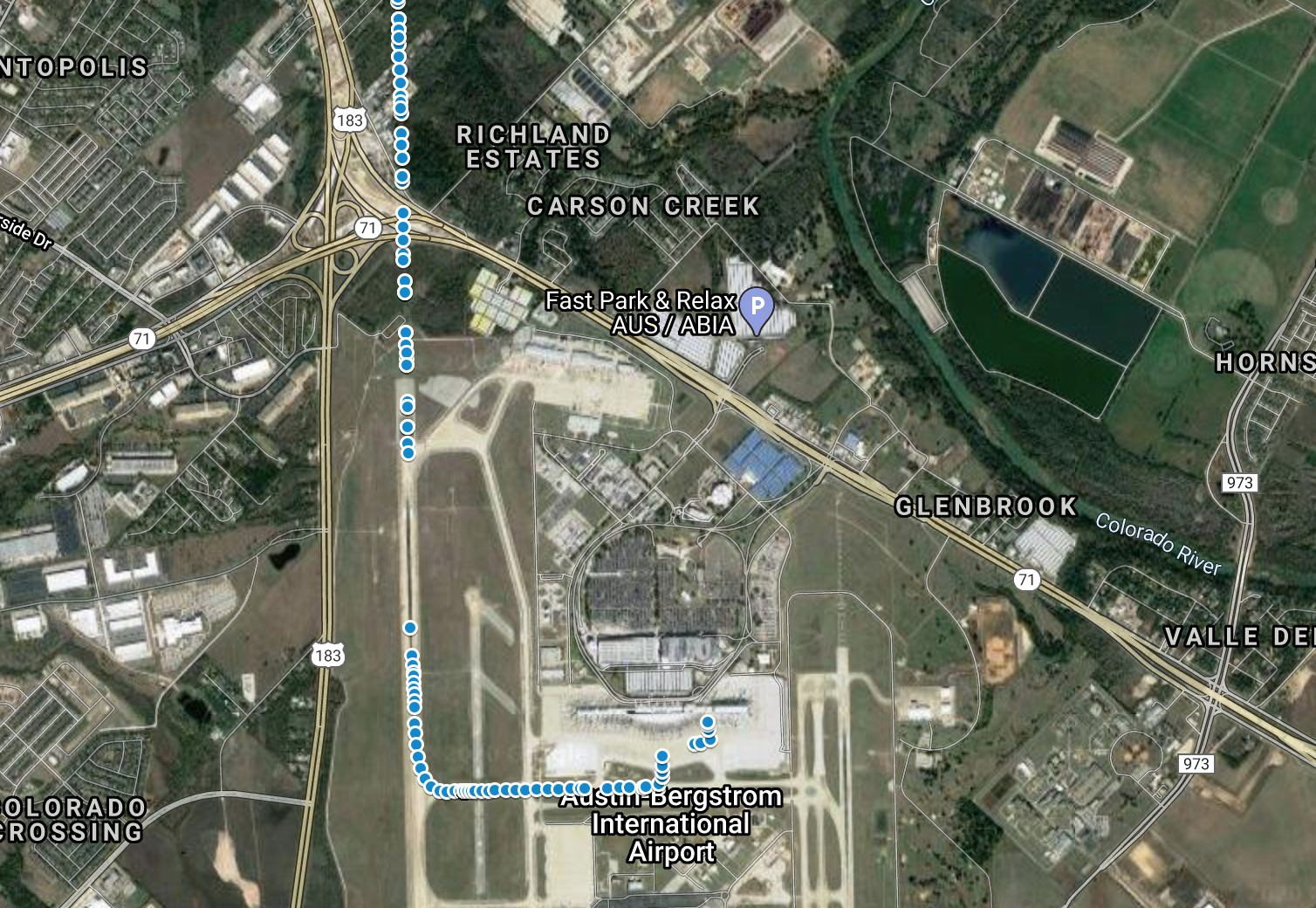Granular ADS-B data showing Southwest 1392taxi to the gate