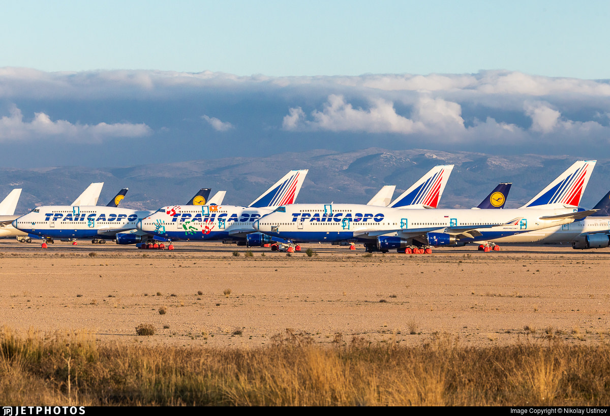 Former Transaero 747s in Teruel