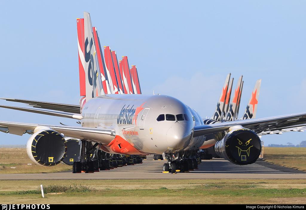Qantas and Jetstar aircraft in Avalon
