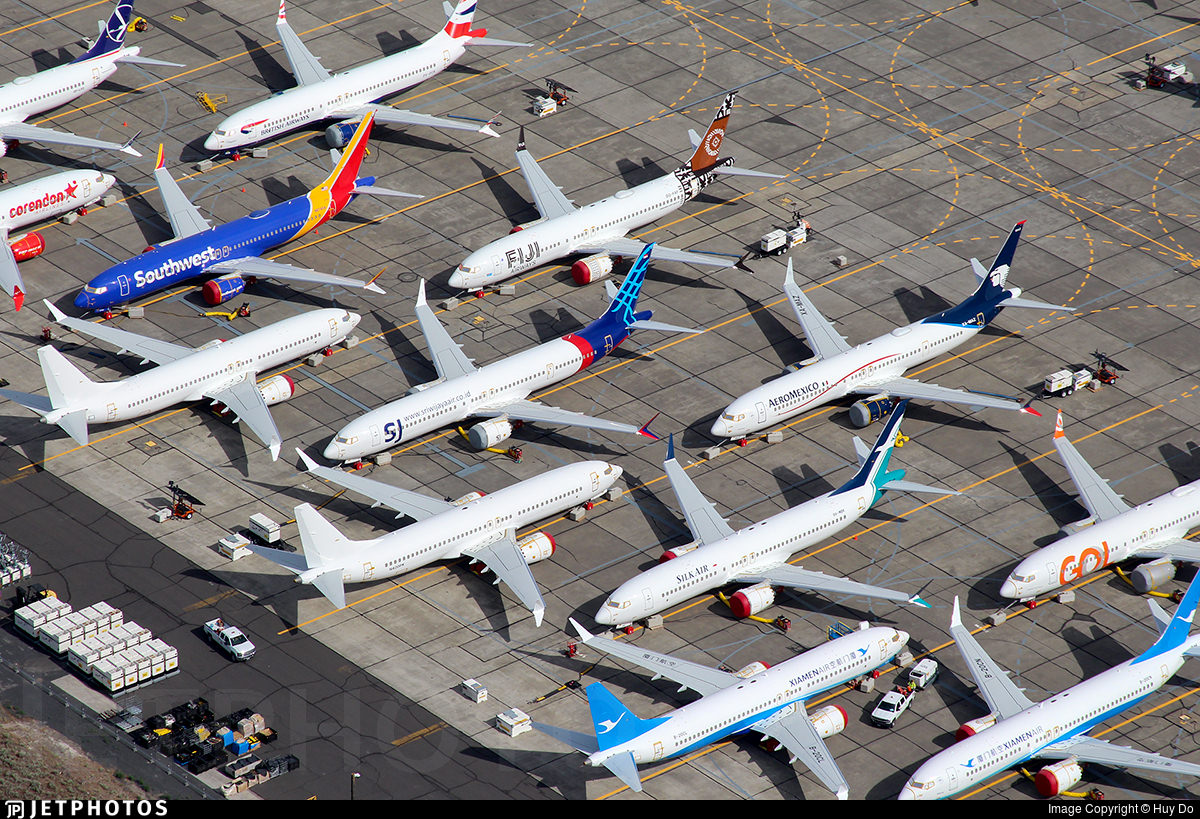 stored Boeing 737 MAX
