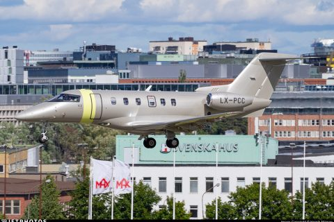 Pilatus PC-24 private jet Stockholm Bromma